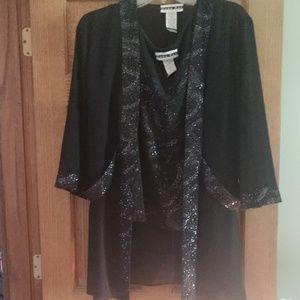 3 piece sheer pant suit